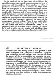 The Devils of Loudun, Appendix, p.367, 1952 Aldous Huxley (Random House:2005)
